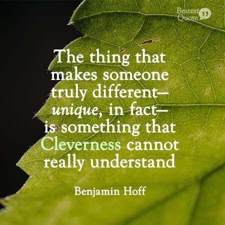 Cleverness cannot really understand. Benjamin Hoff, Tao of Pooh