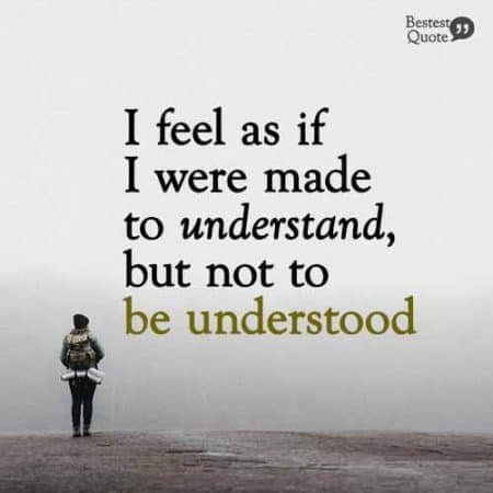 I feel as if I were made to understand, but not to be understood. Scorpio Quote